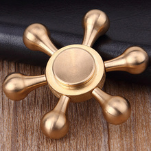 DODOELEPHANT Fidget Spinner Brass Hand Spinner  JX-07 For Autism ADHD  Stress Relief Focus Toys Kids Gift Sensory Finger Spinner