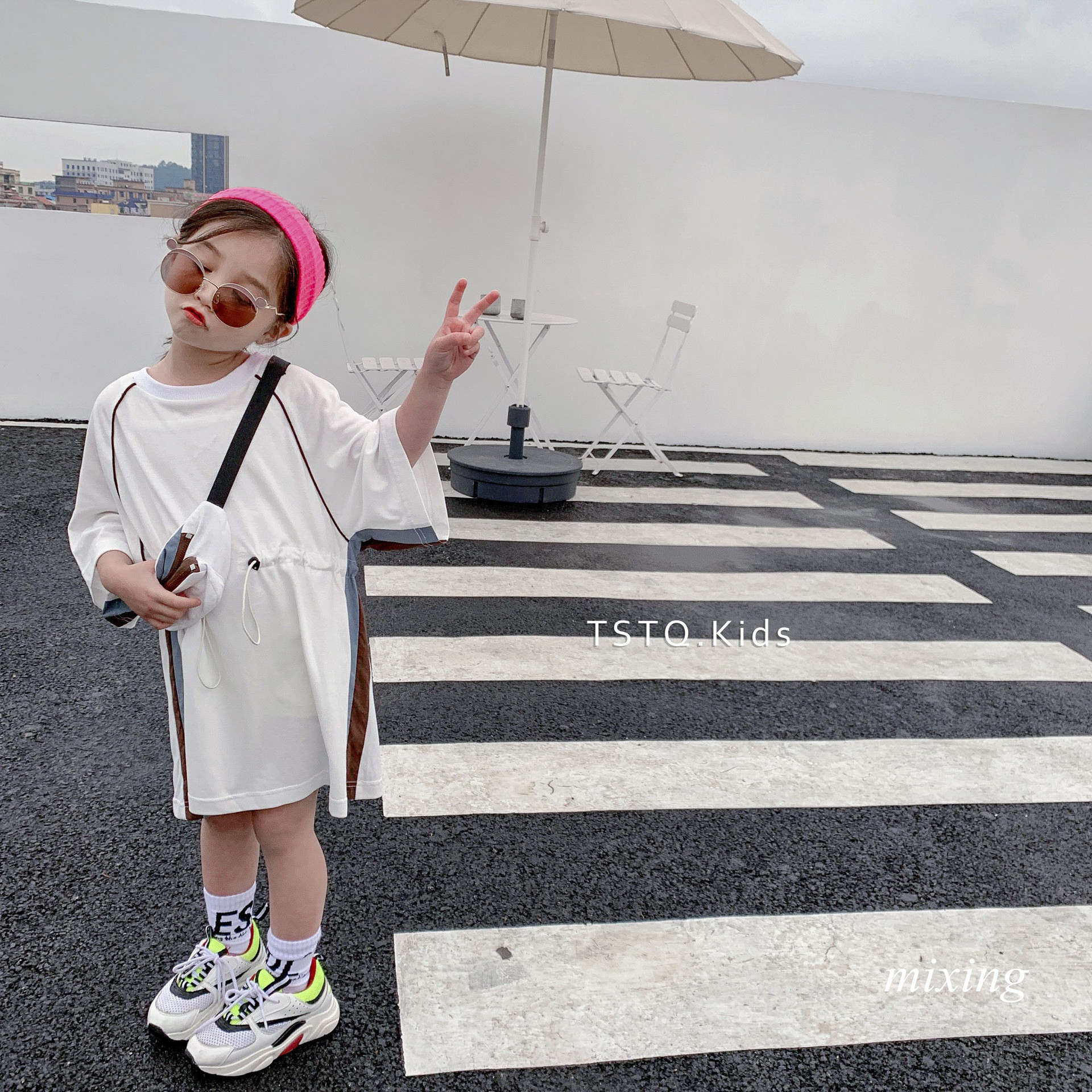 Korean summer dress girls long T-shirt 2019 summer new girls dress T-shirt  cute girls summer dress