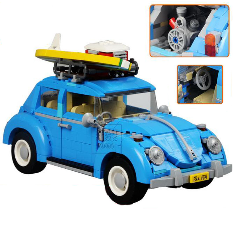 Lepin Technic Series Building Blocks Volkswagen Beetle Blue Car Model 1193pcs Bricks Toys Kids Birthday Gifts Compatible 21003 lepin 21002 technic series 1108pcs car model building kits blocks bricks toys compatible with hands on children gifts 10242