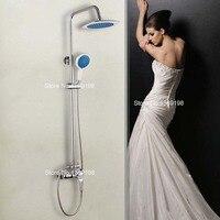 Оптовая и розничная продажа новый Chrome 20 см Большой Дождь душ смеситель Ванная комната регулировать высоту ручной душ смеситель для ванной к...