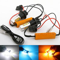Free Shipping 2pcs T20 W21W 7440 42SMD 2835 LED White Yellow 30W Car Daytime Running DRL