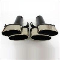 Глушитель с логотипом Двойной выход глушитель для выхлопной трубы конец трубы подходит для Benz W212 W207 W204