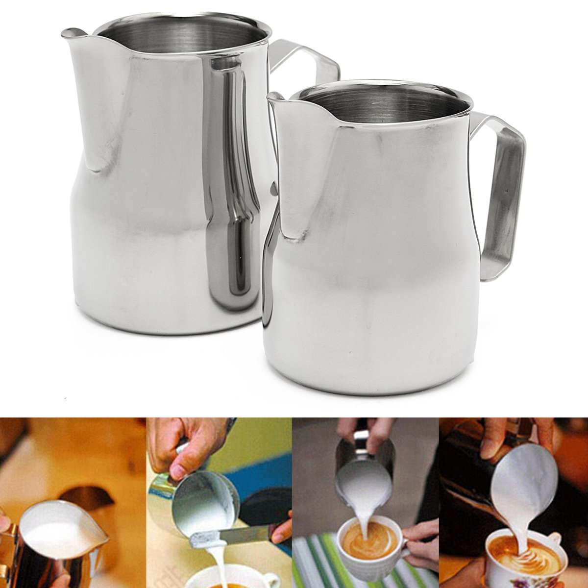 High Qaulity Stainless Steel Milk Frothing Jug Espresso Coffee Pitcher Barista Craft Coffee Latte Milk Frothing