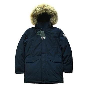 2020 High Quality Men Winter Coat Parka Alaska Thick Padded Coat Jacket Fur Hood Long Coat Warm Mens Winter Parkas Russian Size цена 2017