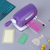 DIY Dies Cutting Embossing Machine Scrapbooking Dies Cutter Paper Card Die Cut Machine Home Embossing Dies Tool Pink Purple