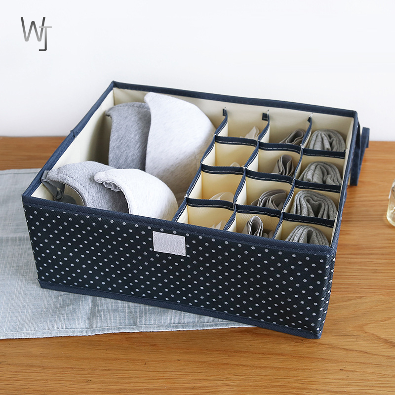 2 in 1 Underwear Foldable Storage Box Underwear Bra Closet Organizer For Socks Ties Lingerie