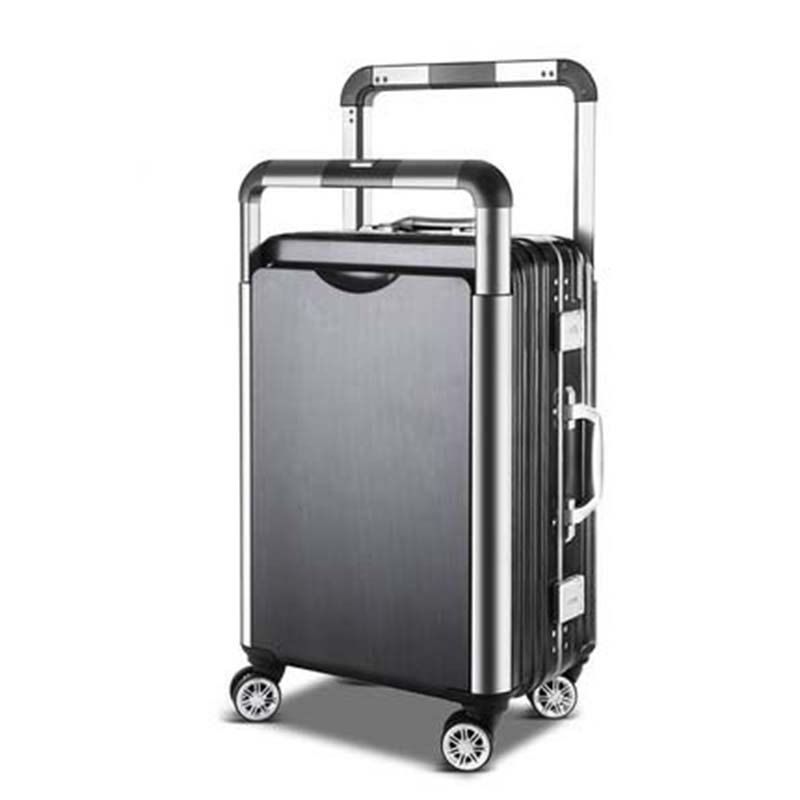 LeTrend Couple Rolling Luggage Spinner Men Suitcase Wheels Women Trolley Aluminum Frame Travel Bag On Wheel Korean Password Box