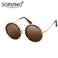 de947fde4 SORVINO Vintage Rhinestone Oversized Round Sunglasses 2018 Women Men Brand  Designer Large Bling Circle Sun Glasses. SORVINO Strass Oversized Rodada  Óculos ...