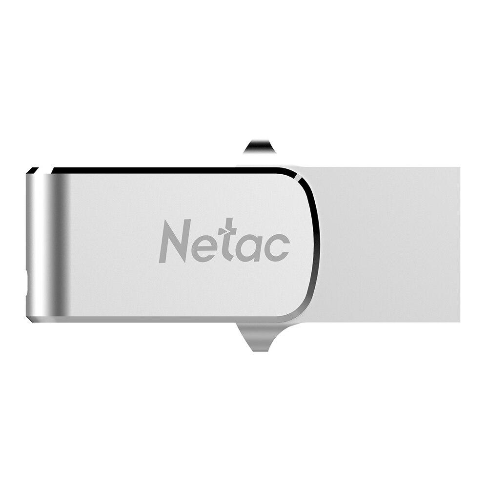 Netac U780C USB Flash Pendrive 32G 64G USB3.0 Type-C Dual Interface Usb Pen Drive For Android OTG Metal Stick Memory Storage