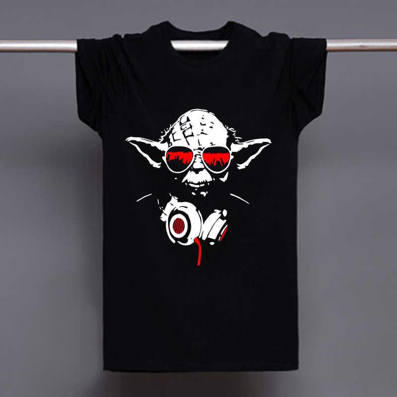 08c875ec896d1 Мужские летние футболки повседневные свободные рубашки Yoda Cool Dj хип-хоп футболки  мужские хлопковые футболки