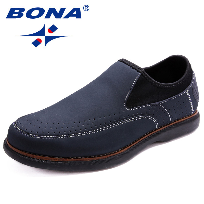 BONA New Fashion Style Men Casual Shoes  Lace Up Loafers Slip-On Flats Comfortable Soft Fast Free Shipping 2017 summer new fashion sexy lace ladies flats shoes womens pointed toe shallow flats shoes black slip on casual loafers t033109