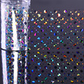 4*100cm Holographic Nail Foil Hologram Hexagon Heart Dot Manicure Nail Art Transfer Starry Sticker Nail Decorations Accessories
