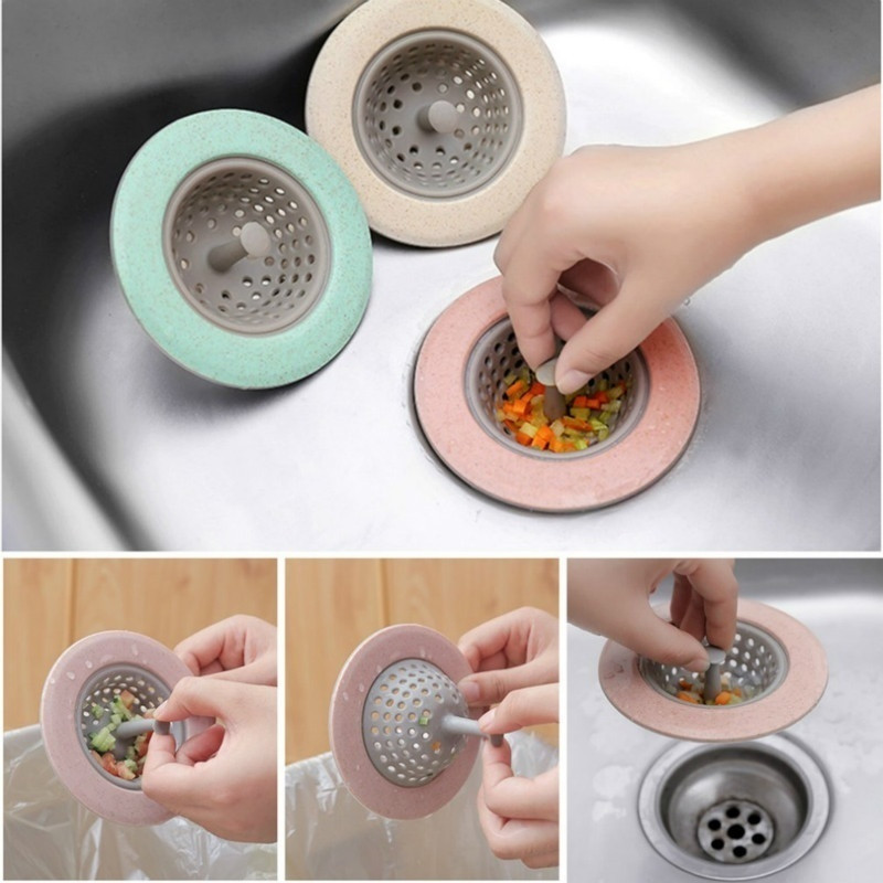 Kitchen Drains Sink Strainers Filter Shower Lavabo Drains Cover Sink Colander Sewer Hair Catcher Stopper Bathroom Accessories
