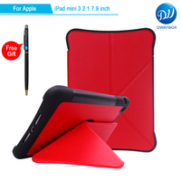 DWAYBOX Smart Cover For Apple IPad Mini 3 2 Deformed Origami Standing Magnetic Folio PU Leather