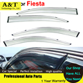 car styling Window Visors For Fiesta Hatchback 2013 2014 2015 Sun Rain Shield Stickers Covers Car - Styling Awnings Shelters