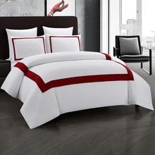 Yimeis Bedding Set Red Double Bed Luxury Stitching Comforter Bedding Sets Geometric Bed Linen Set BE47001 bedding set полутораспальный сайлид red flowers