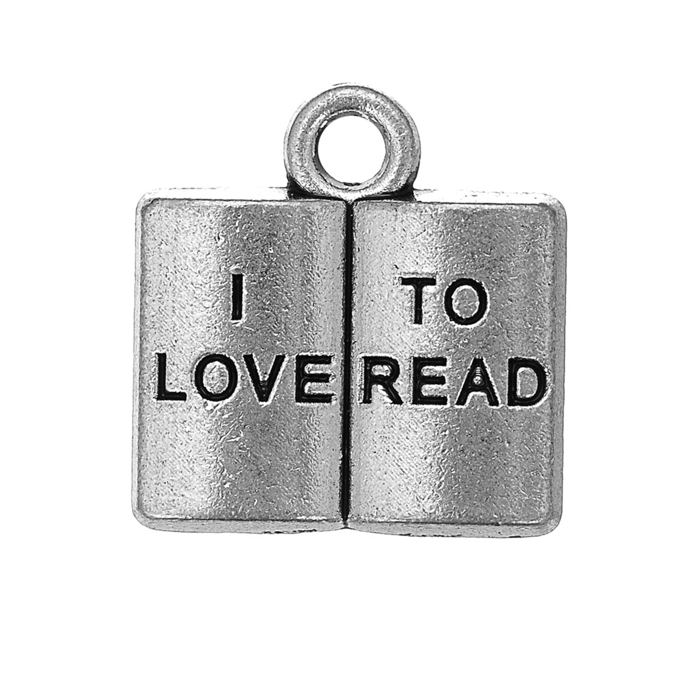 10pcs Charms I Love To Read Book 13x14mm Pendant I Love To Read Book Charms For Jewelry Making Jewelry Findings