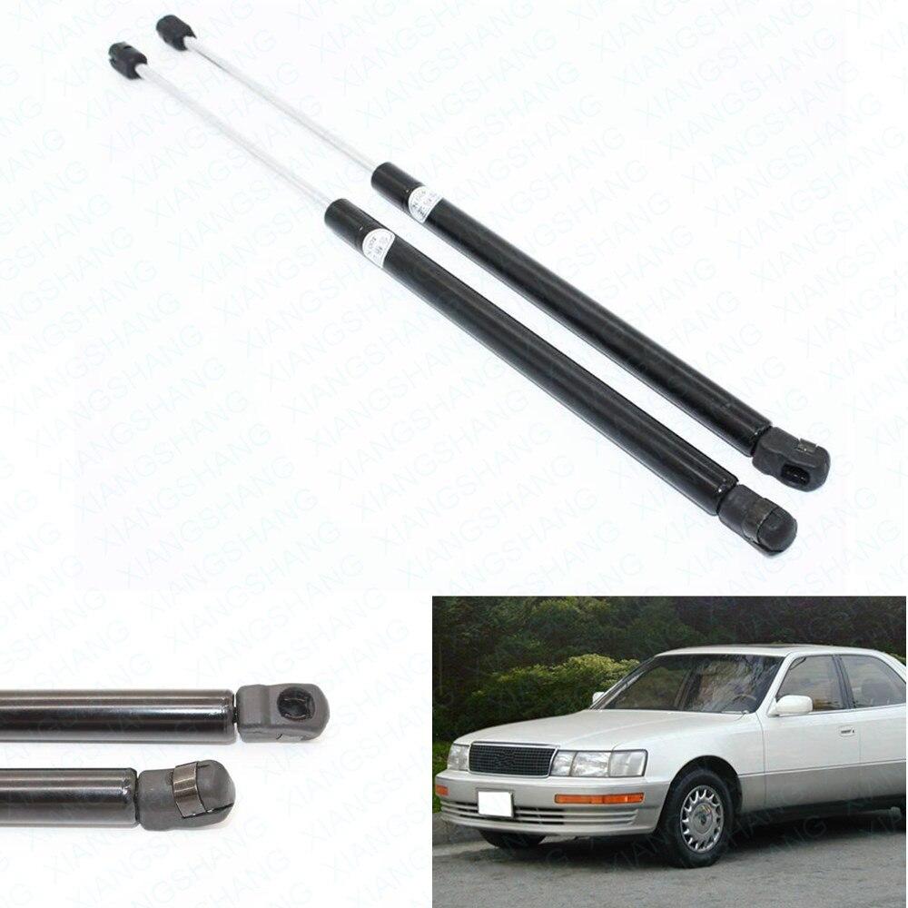 2pcs auto front hood bonnet lift support shock gas struts spring for lexus ls400 1990 1991