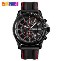SKMEI Men Watch Top Brand Luxury Male Silicone Waterproof Sport Quartz Stopwatch Military Wrist Watch Men Clock Casual Watches