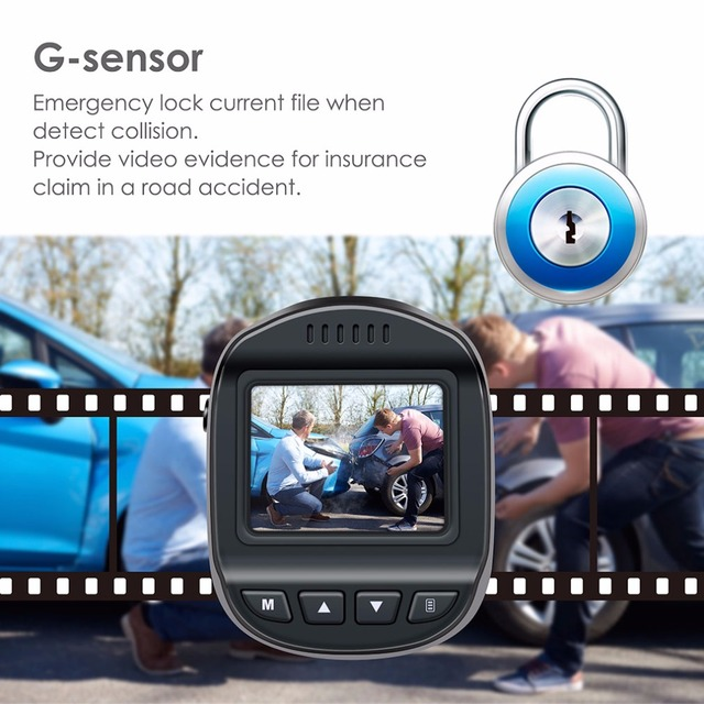 Accfly DVR Dash Camera video recorder with Motion Detection G-Sensor