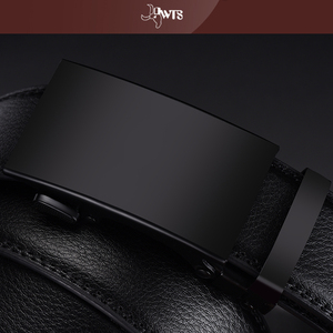 Image 4 - [DWTS]Genuine Leather Belts For Men Automatic Male Belts Cummerbunds Leather Belt Men dropshipping Black Belts cinturon hombre