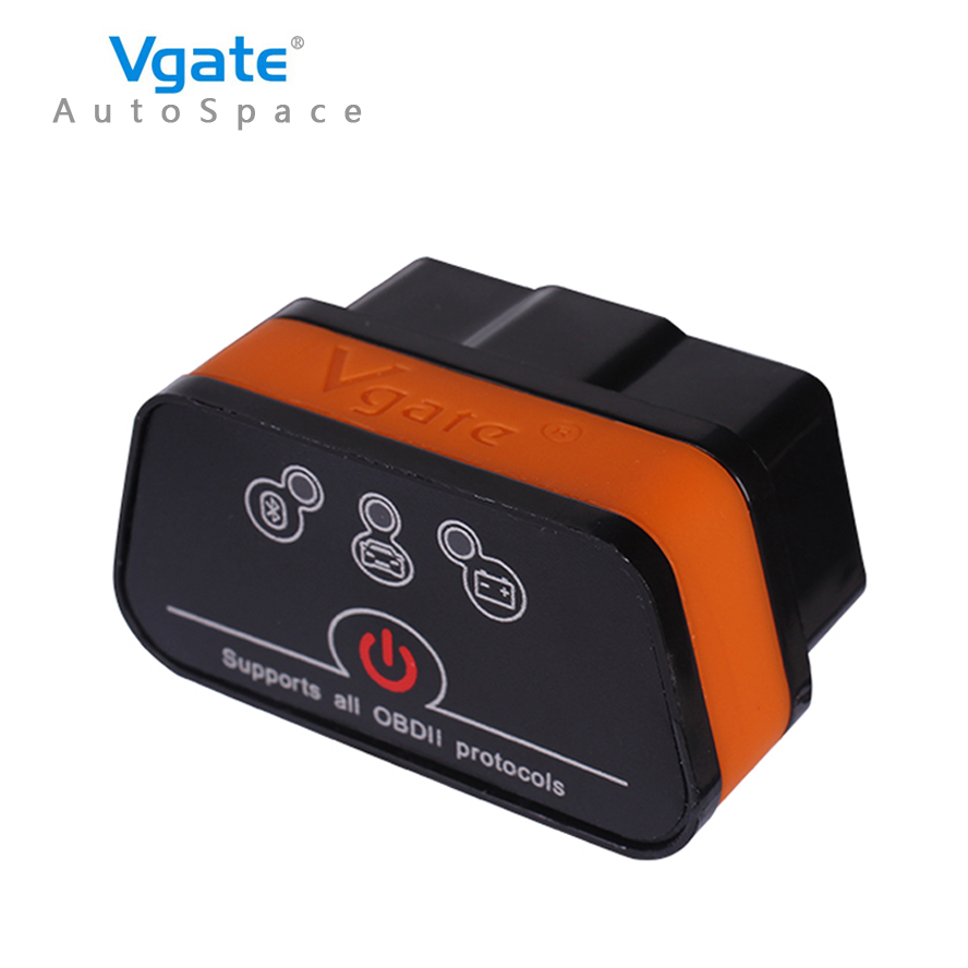 Vgate iCar2 ELM 327 V2.1 OBD2 Bluetooth Adapter Auto OBD Scanner Car Code Reader Diagnostic Scan Tool Universal ODB ODB2 OBDII ft232rl chip real elm327 v1 5 plastic obdii eobd canbus scanner automotive obd2 scan tool elm 327 v 1 5 usb diagnostic tool