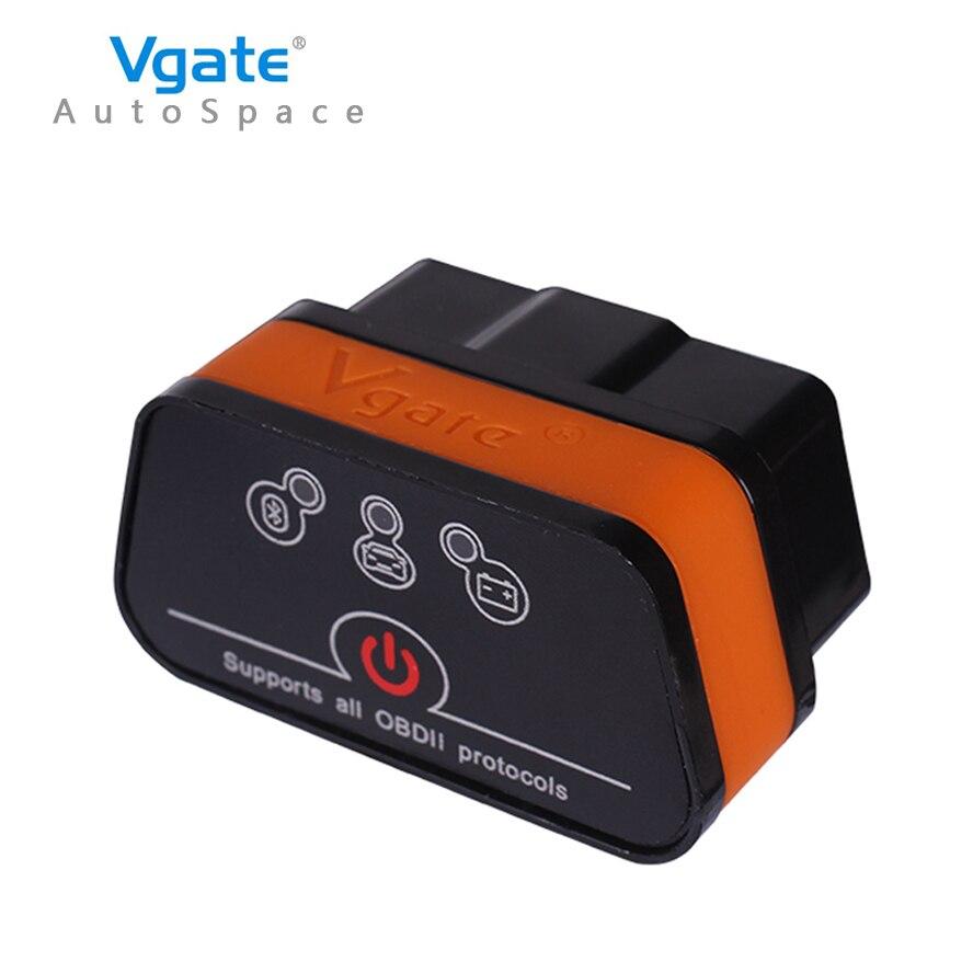Vgate iCar2 ELM327 V2.1 OBD2 Bluetooth Adapter Auto OBD2 Scanner Car Code Reader Diagnostic Scanner Tool Universal ODB2 Elm 327
