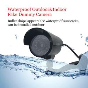Image 2 - 4pcs Waterproof מצלמה חיצוני מקורה אבטחת CCTV Bullet מעקבים מצלמה מהבהב אדום LED משלוח חינם