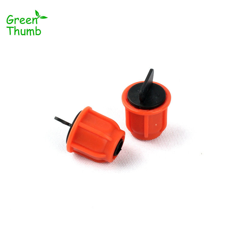 12pcs 8/11mm Thread Locked Hose End Connector for Home Garden VegPlot Planting Drip Mist Spraying System Pipe End Cap