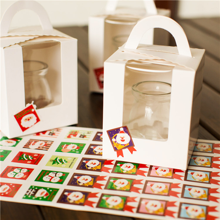 40pc/sheet Merry Christmas Santa Clause Snowman Seal Sticker Badge Tags Labels Seal Envelope Gift Box Packaging Wrapping Backing