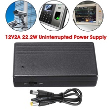 Becornce 1Pc Black Multipurpose Mini UPS Uninterrupted Power Supply Backup Power