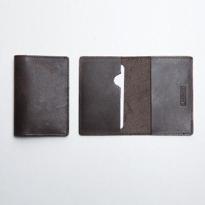 LANSPACE мужской кожаный держатель для карт брендовый маленький чехол для кредитных карт модные держатели для карт - Цвет: Dark Coffee