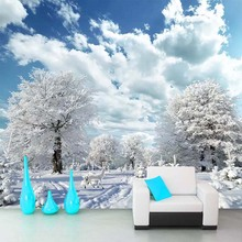 Forest Winter Snow Scenery 3D Photo Wallpaper