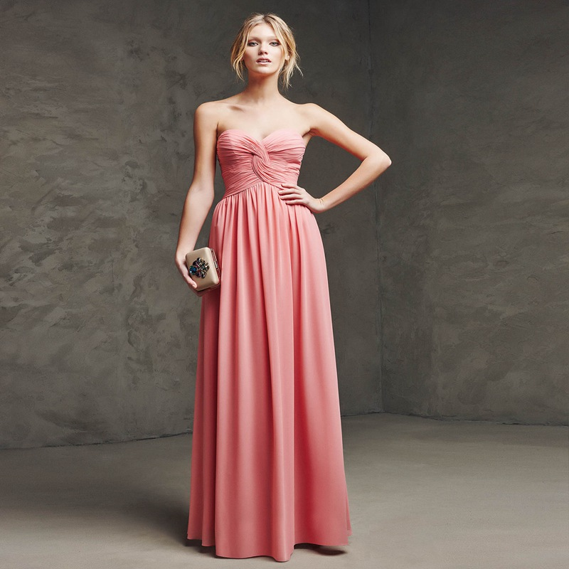 Beautiful Summer Beach Coral Bridesmaid Dress 2015 ...