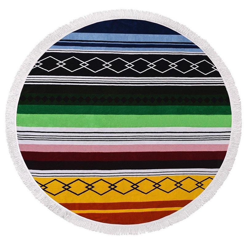 1pc Hippie Mandala Tapestry Round Roundie Wall Hanging