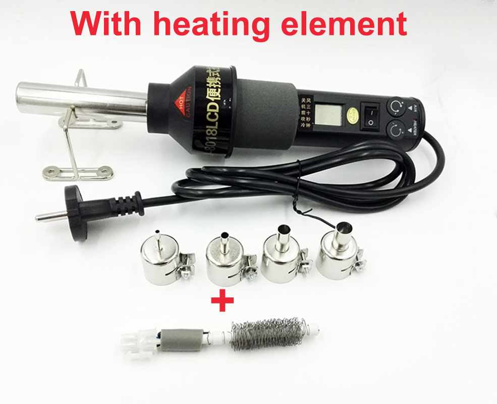 цена на Adjustable Digital Hot Air Gun Heat gun Soldering Desoldering solder Station SMD BGA 8018LCD+heating element 220V LCD