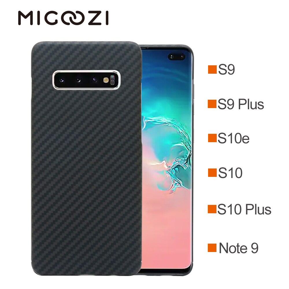 Para Samsung Galaxy Note 10 S10e S10 Além de Fibra De Aramida Fibra De Carbono Caso Padrão Ultra Fina Capa Protetora Para Galaxy s9 Nota 9
