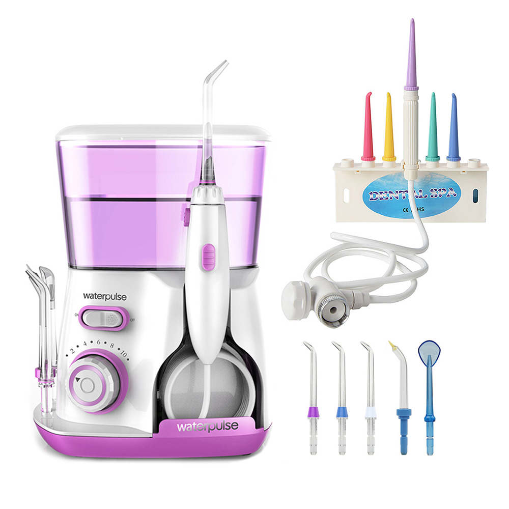 Waterpulse V300 Oral Irrigator Dental Irrigator Water Powerful Flosser Dental Flosser or Faucet Oral Irrigator Implements waterpulse dental flosser v300 800ml dental irrigator powerful flosser dental water jet oral hygiene water tooth flosser
