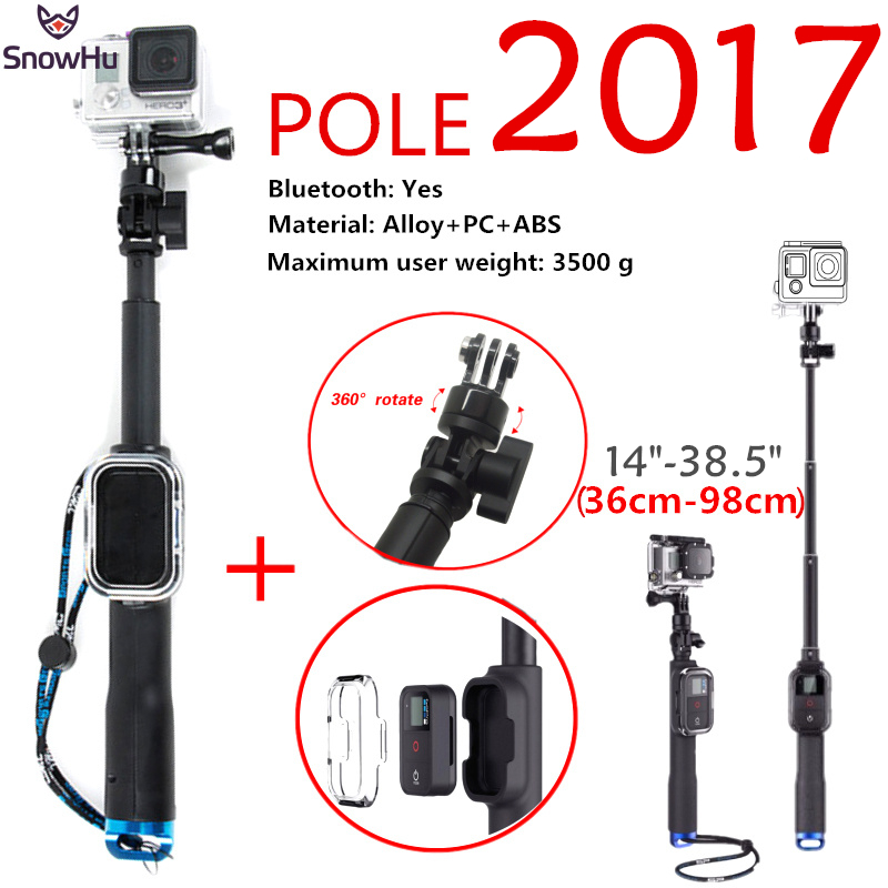 SnowHu For Gopro Accessories 98cm Monopod Remote Housing And Tripod Mount Adapter For Gopro Hero 5 4 3+ for xiaomi yi 4k GP164