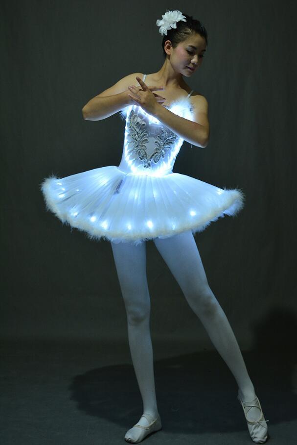 Ballet Tutus Ballerina-Dress Party-Dance-Costume Swan-Lake Professional Women New LED