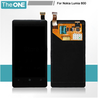 100 Garantee For Nokia Lumia 800 LCD Screen With Touch Digitizer Assembly Black Free Shipping