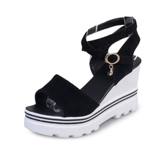 NEW Concise Women Summer Flat-Platform sandals High Heel comfort Open Toe slippers Sandals Office and casual women's beach Shoes