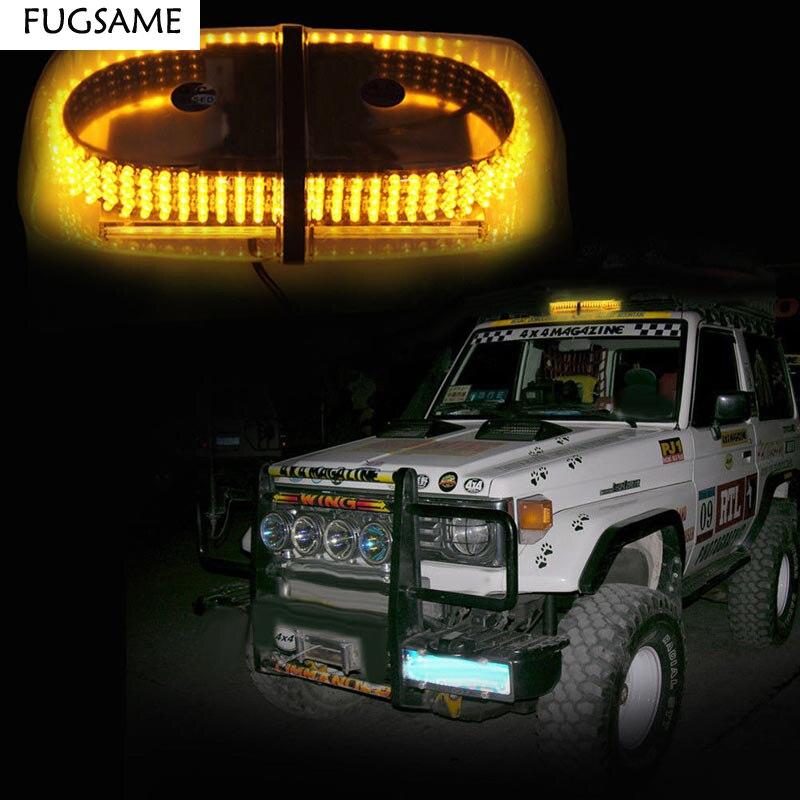 Free Shipping 240 LED Car High Power Magnetic Roof Flashing Strobe Emergency Light Police Warning light white/amber/red/bule