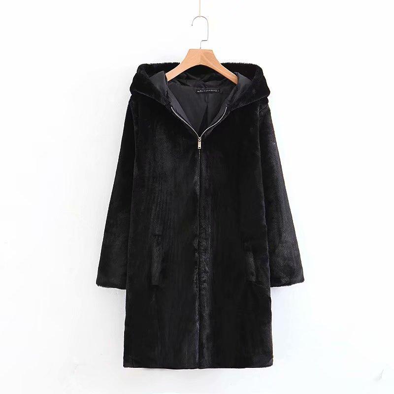 Basic Jackets Jackets & Coats New Arrival Women Xz75-1893 European And American Fashion Faux Fur Coat