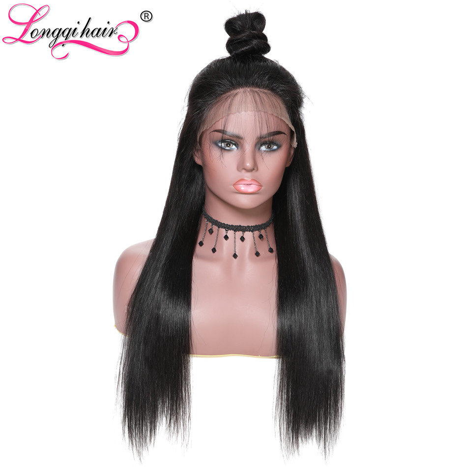Longqi Hair 13 6 Straight Remy Human Hair Wig With Baby Hair Density 150 Natural Color