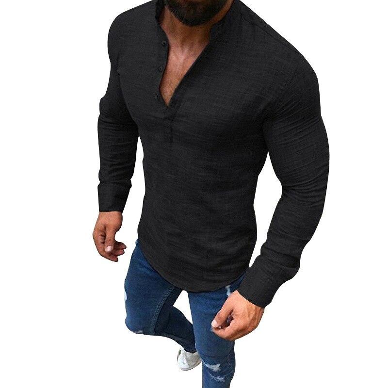 8227b0d24ea37eb DAVYDAISY/Лидер продаж, Весенняя Мужская рубашка в полоску с длинными  рукавами, однотонная Клетчатая