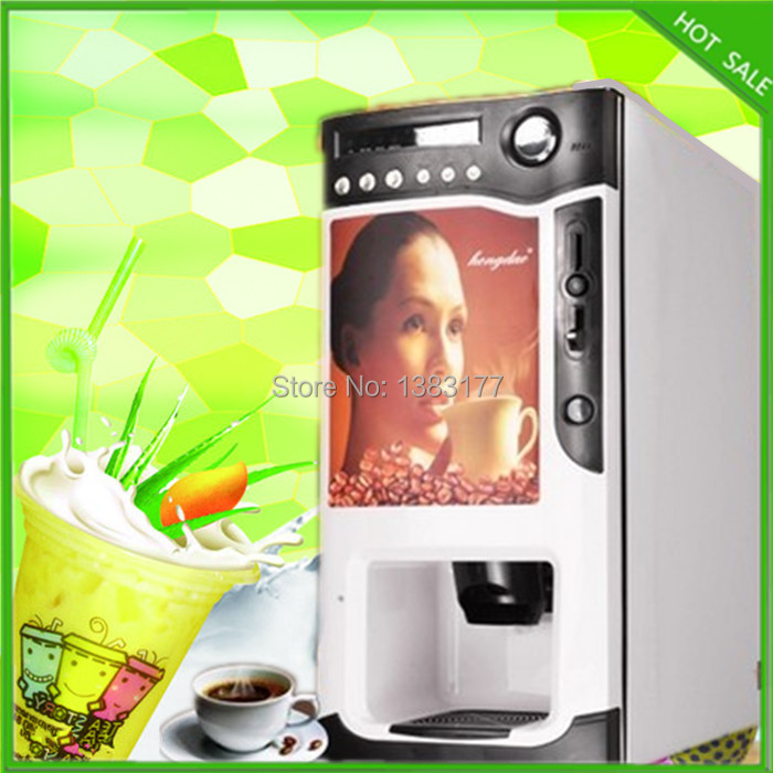 free shipping 3 in 1 automatic cup falling milk tea fruit juice coffee maker instant coffee vending machine free shipping commerical use 3 in 1 automatic coffee vending machine hot drink dispenser machine