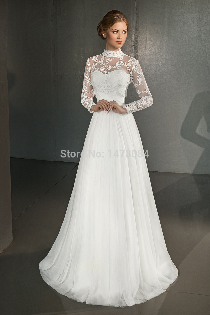 2015 Hot Sale A Line Wedding Dress Glamorous Decent Bridal Gown with ...