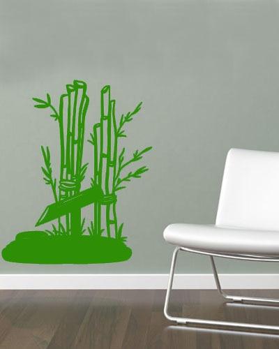 Neue Artikel Japaness Stil Bambus Wandaufkleber Moderne Wohnzimmer Decor Customized Wandkunst