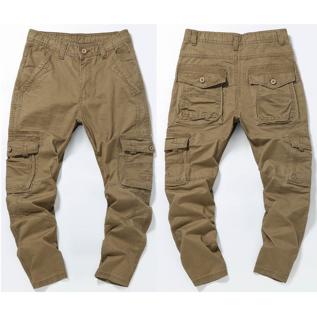 NIGRITY New 2018 autumn winter mens Cargo Pants For Men Military Straight Trousers Casual Cotton joggers Long Pants Plus Size